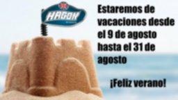 Vacaciones verano 2021, en el periodo vacacional NO habrá envíos.